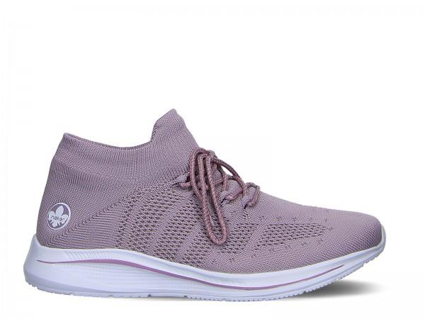 Rieker Slipper in lila rosa pink | 1aschuh